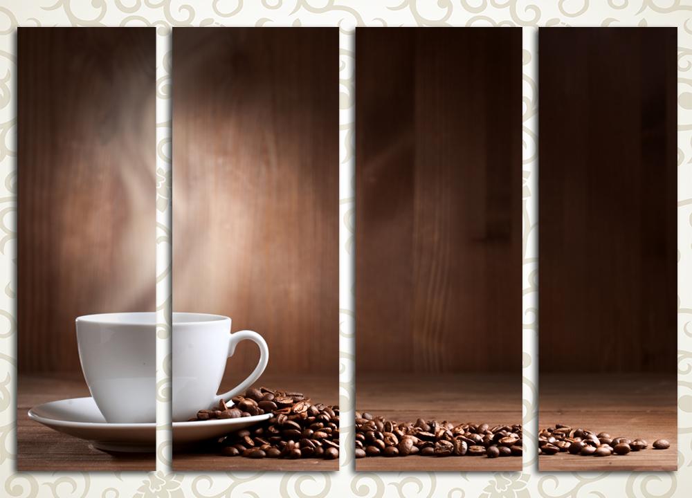 Модульная картина Аромат свежесваренного кофе