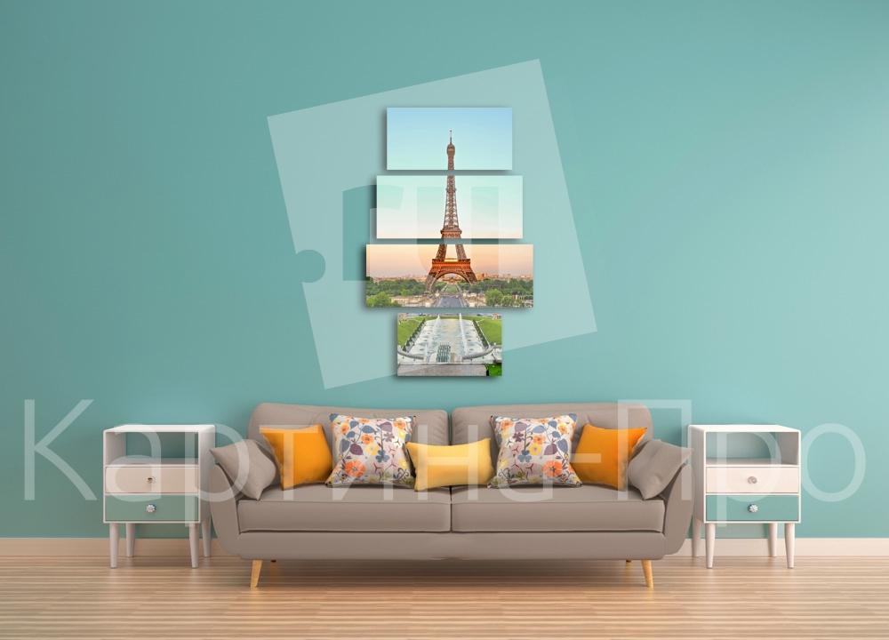 Модульная картина Утро в Париже (Франция) от Kartina-Pro