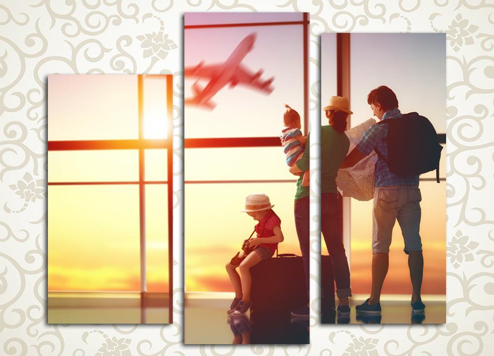 Модульная картина Семейное путешествие