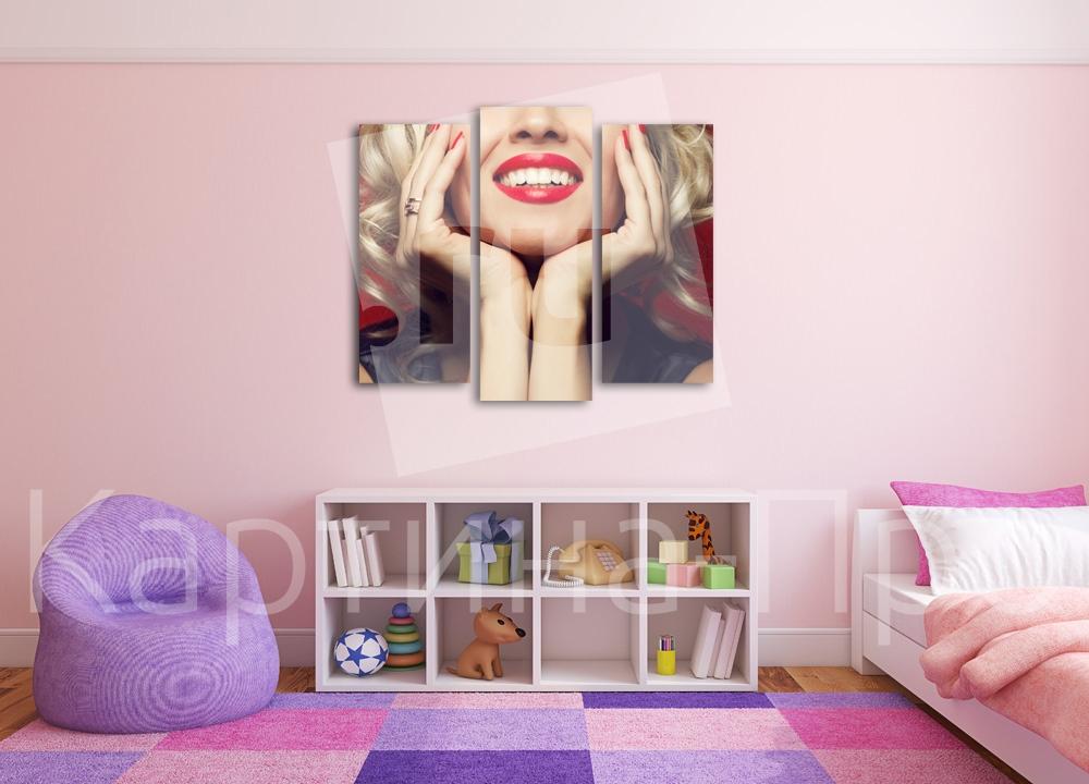 Модульная картина Чарующая улыбка от Kartina-Pro