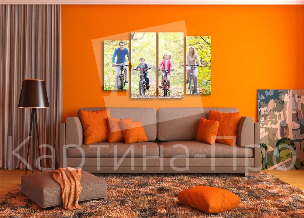 Модульная картина Велосипедная прогулка от Kartina-Pro