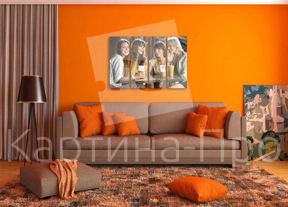 Модульная картина Милые подружки от Kartina-Pro
