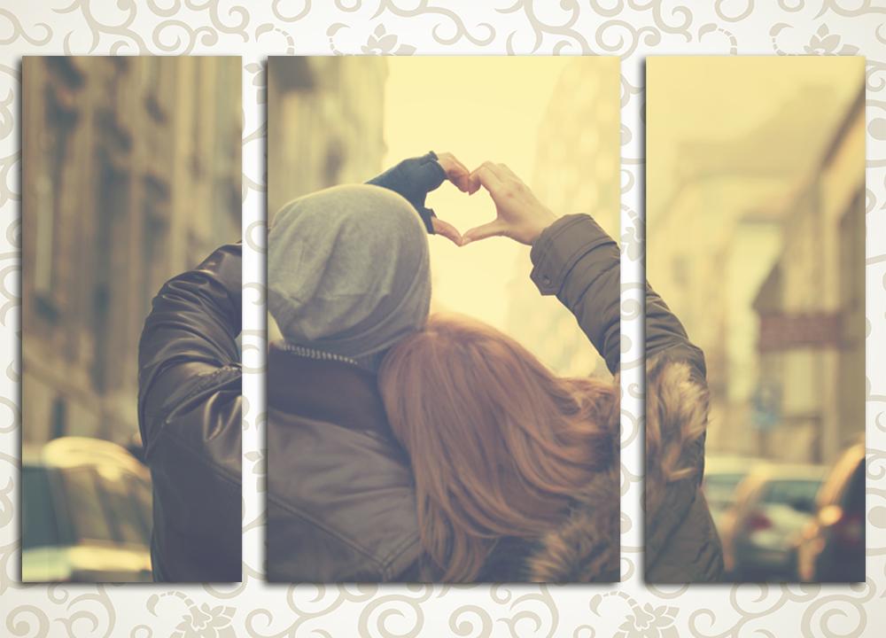 Модульная картина Влюбленная пара от Kartina-Pro