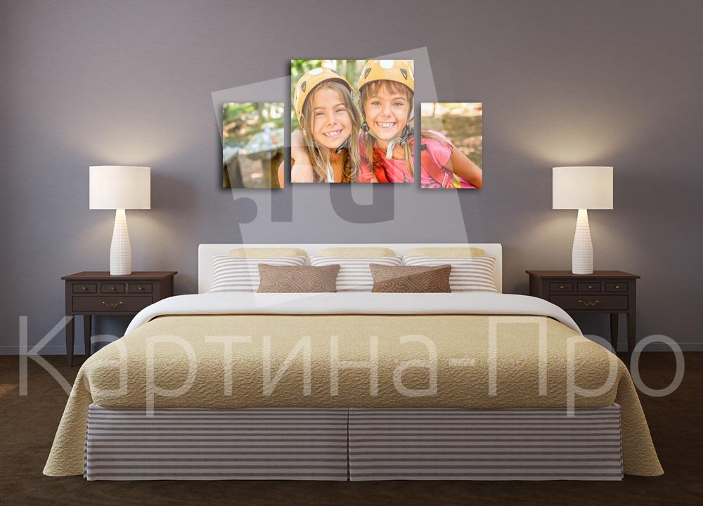 Модульная картина Счастливые подружки от Kartina-Pro