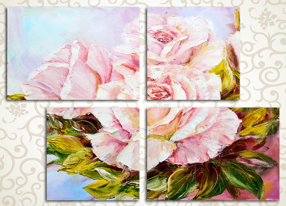 Модульная картина Великолепные розы