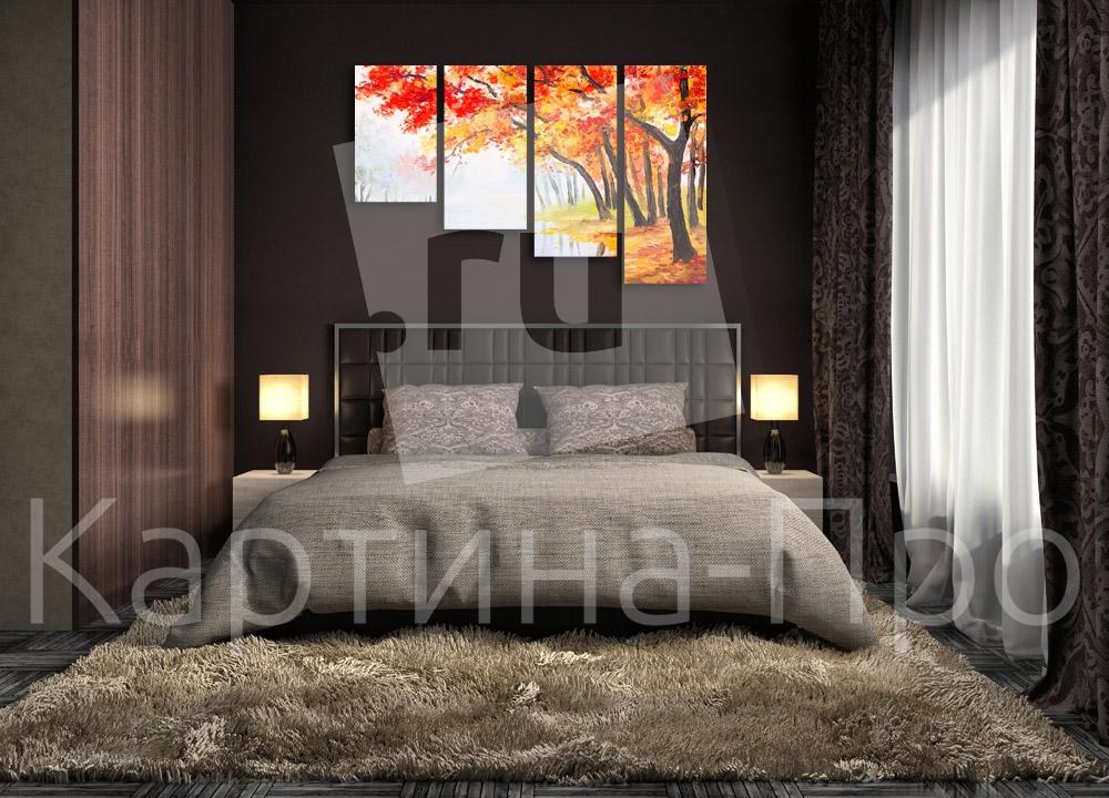 Модульная картина Осенний лес от Kartina-Pro
