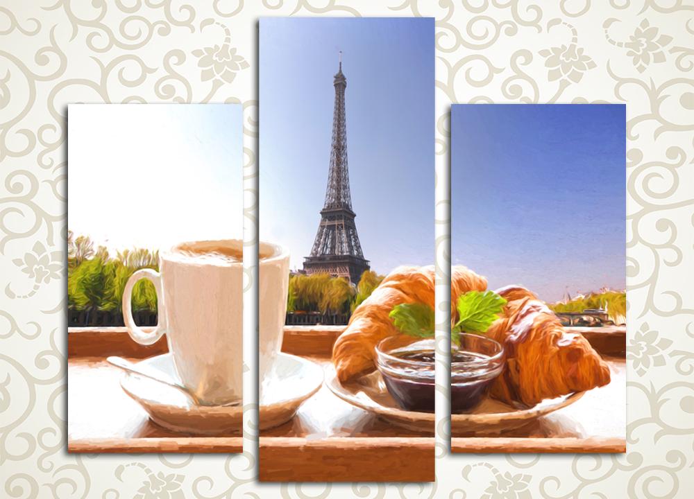 Модульная картина Завтрак в Париже