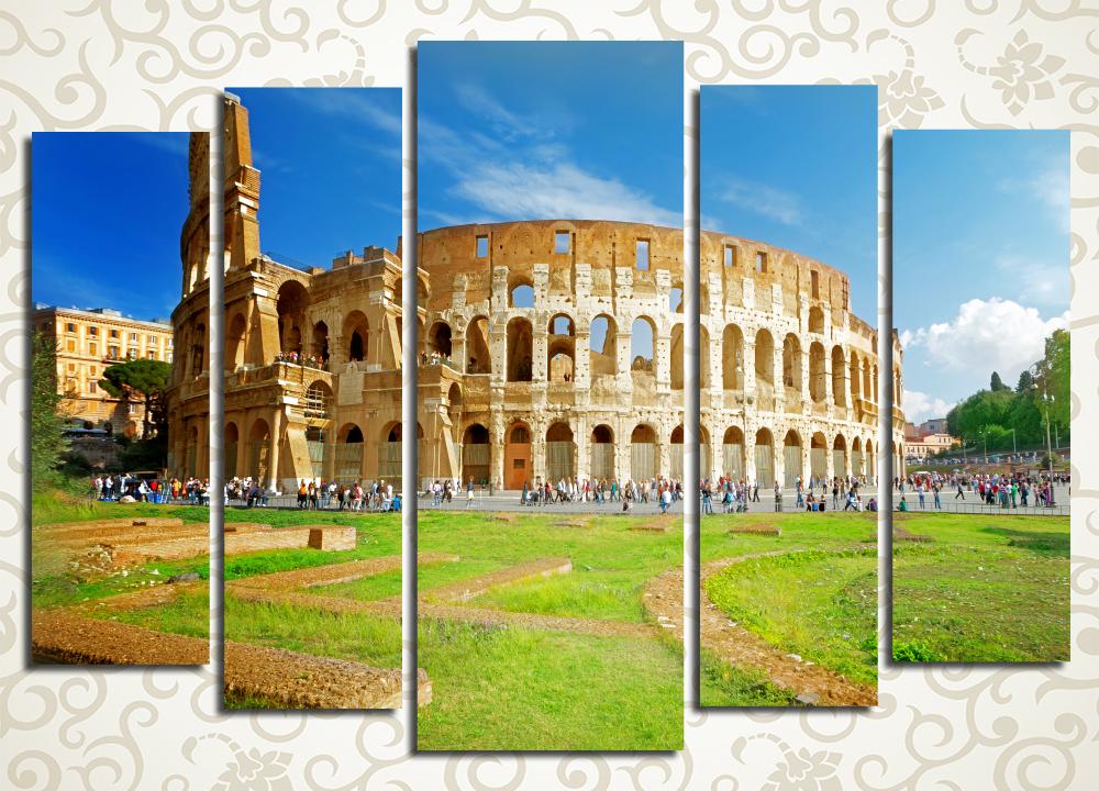 Модульная картина Вид на Колизей, Рим (Италия)