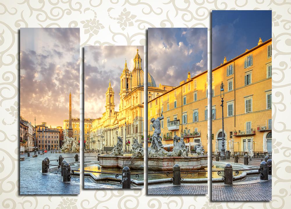 Модульная картина Площадь в Риме (Италия)