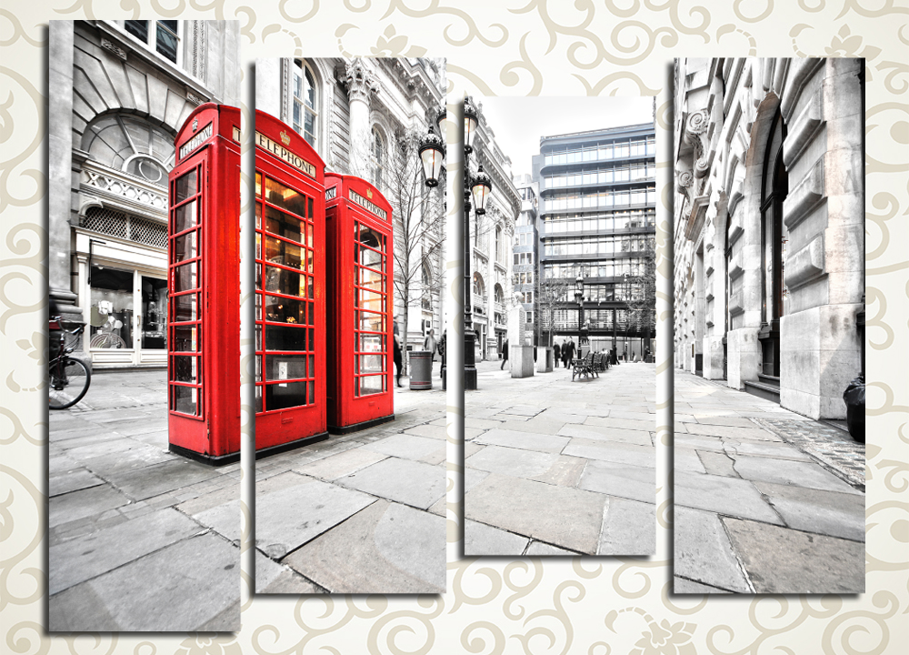 Модульная картина Улица Лондона (Англия)