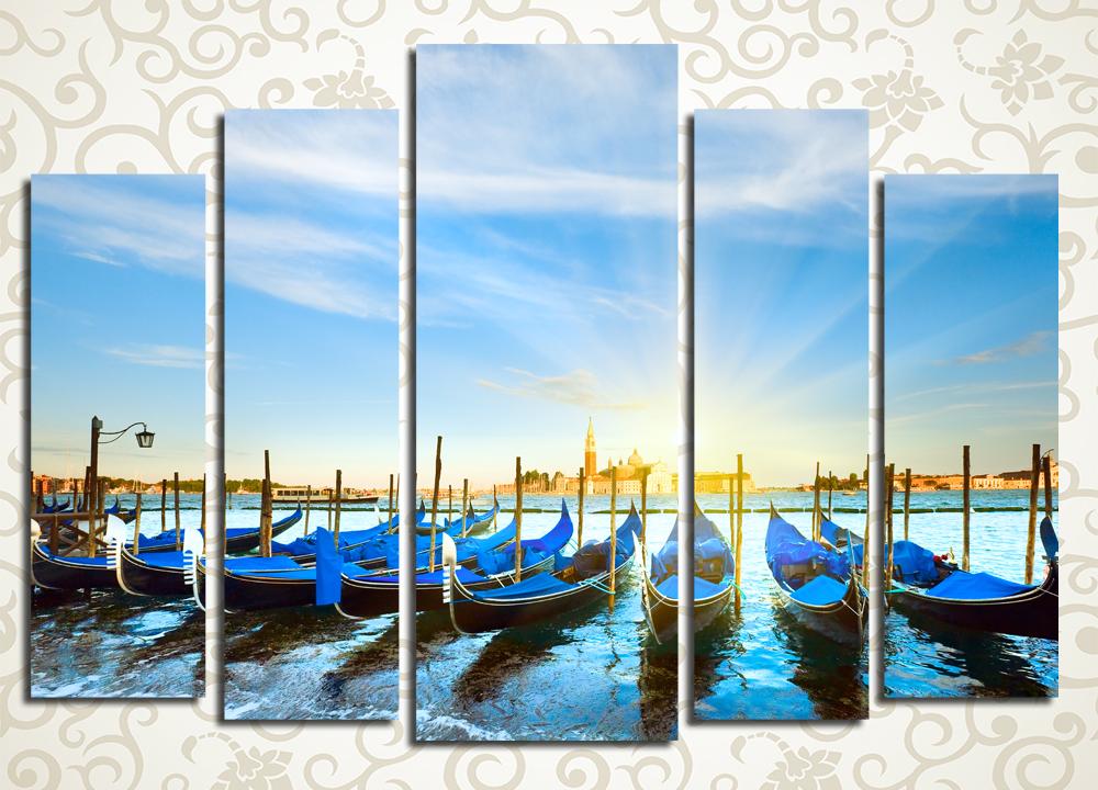 Модульная картина Гондолы Венеции (Италия)