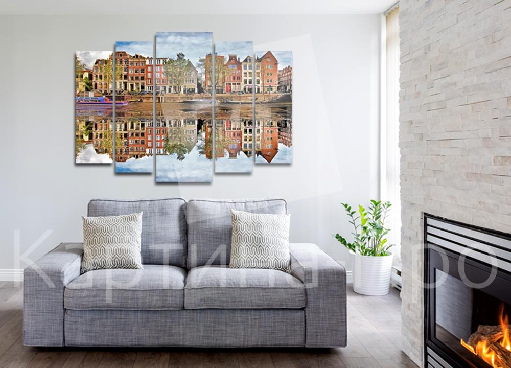 Модульная картина Каналы Амстердама (Голландия) от Kartina-Pro