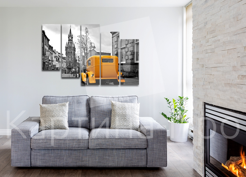 Модульная картина Ретро-автомобиль на улице города от Kartina-Pro