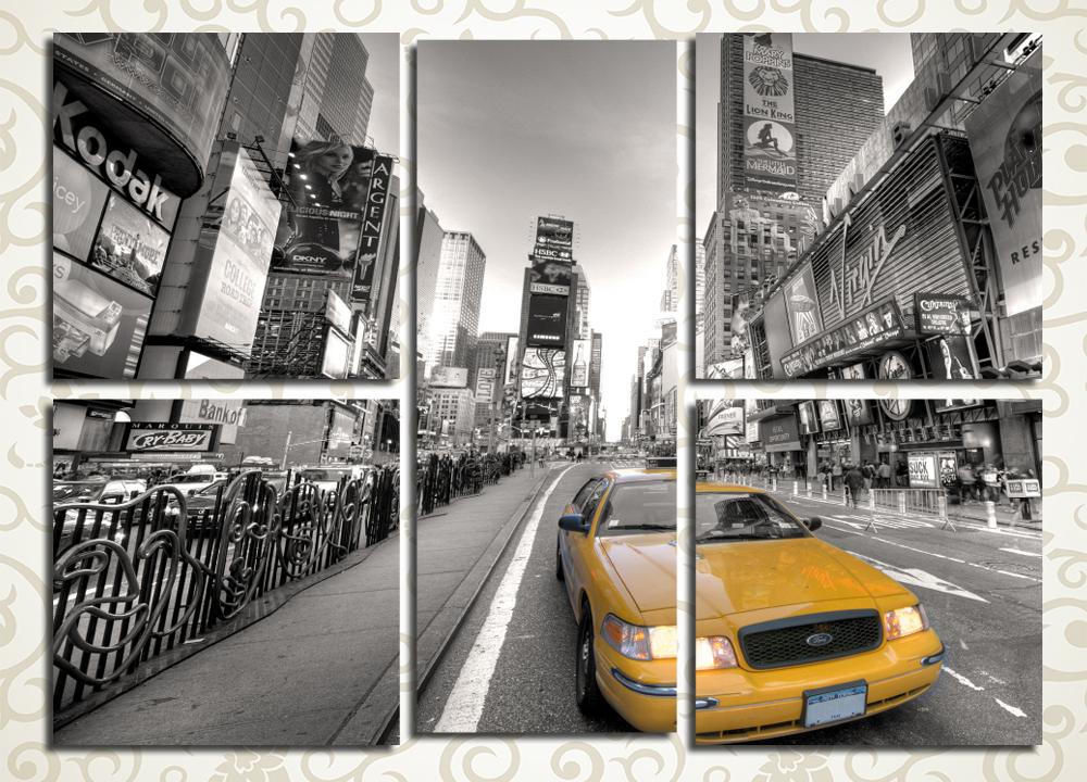 Модульная картина Такси в Нью-Йорке (США)