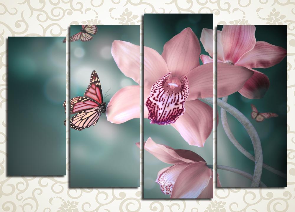 Модульная картина Сказочные орхидеи