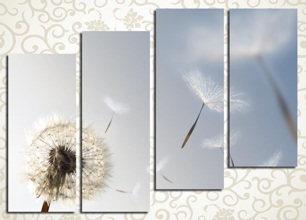 Модульная картина Одуванчик на ветру