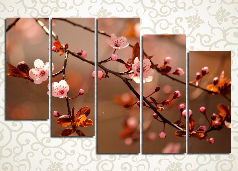 Модульная картина Цветение вишни