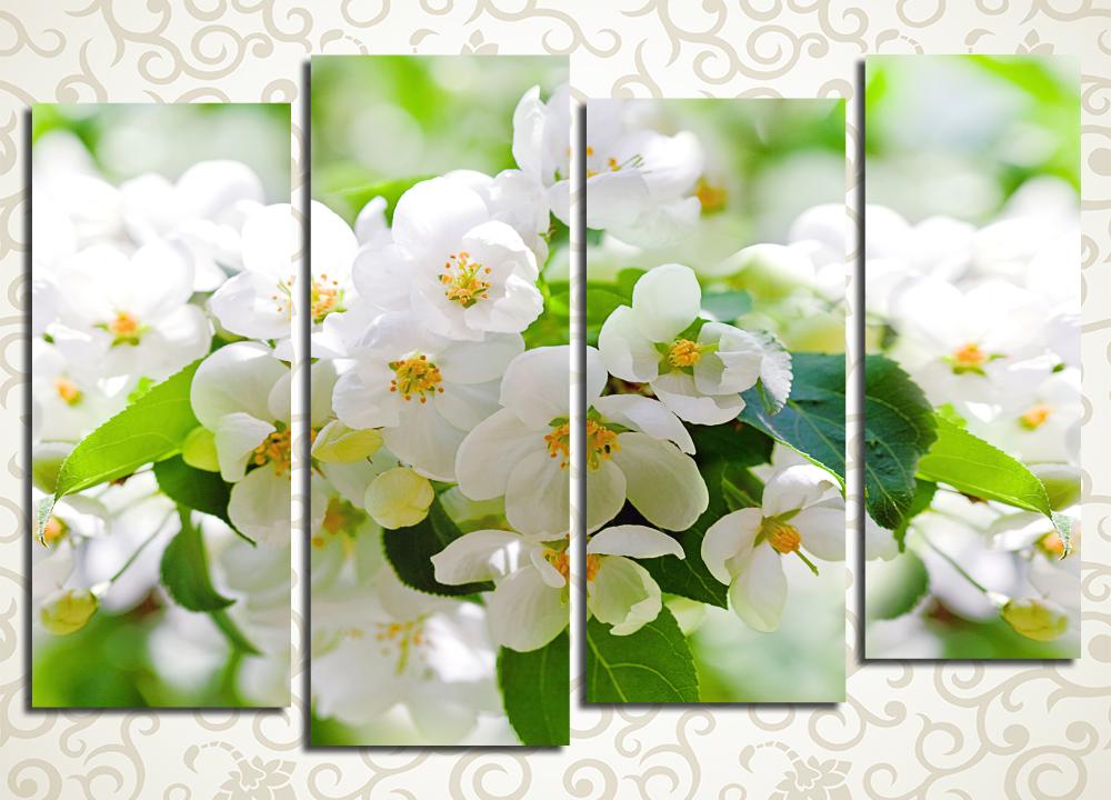 Модульная картина Цветение яблони
