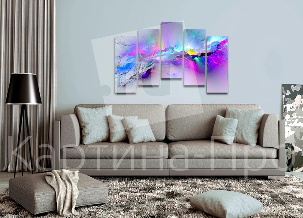 Модульная картина Взрыв красок от Kartina-Pro