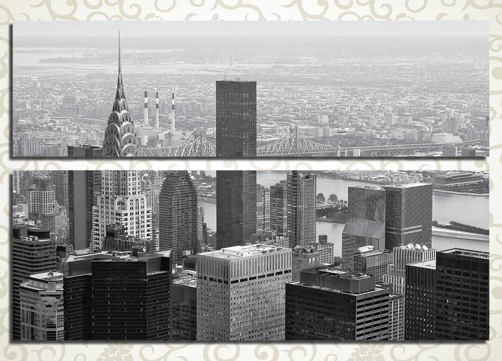 Модульная картина Черно-белый Нью-Йорк