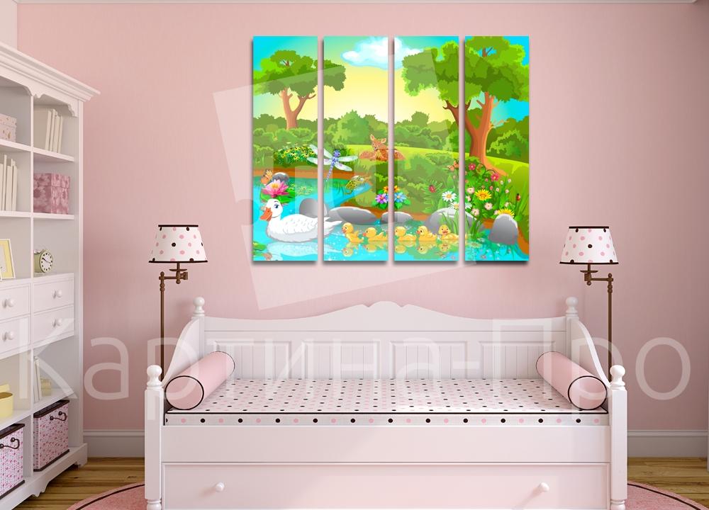 Модульная картина Детский пейзаж от Kartina-Pro
