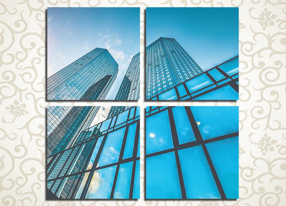 Модульная картина Здание из стекла