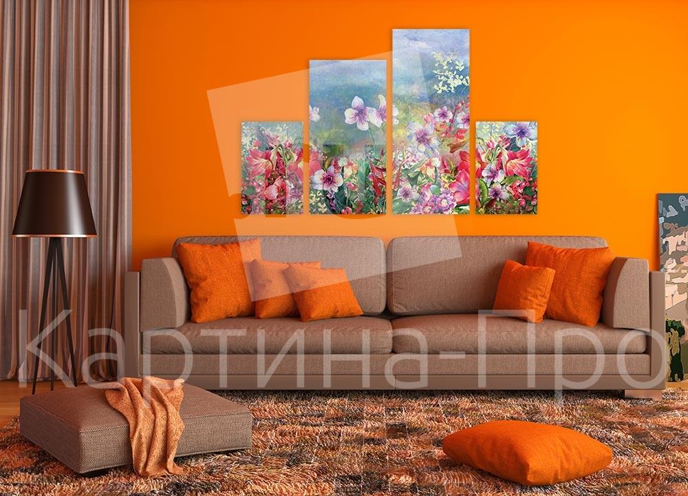 Модульная картина Горные цветы от Kartina-Pro