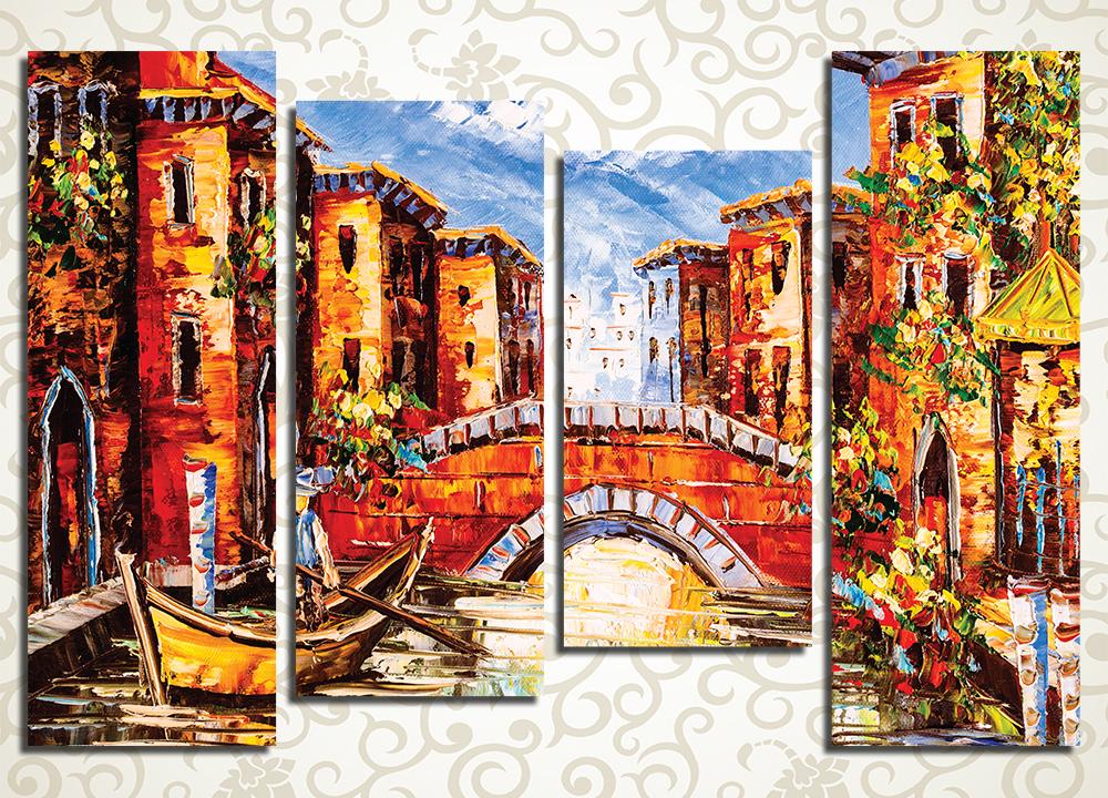 Модульная картина Рисунок Венеции (Италия)