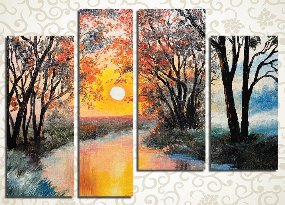 Модульная картина Осенний пейзаж