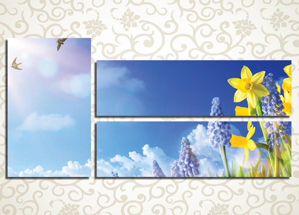 Модульная картина Весенние цветы