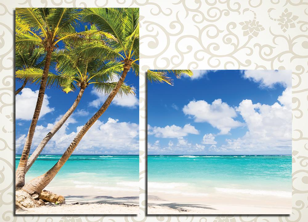 Модульная картина Пляж в Пунта-Кана (Доминикана)