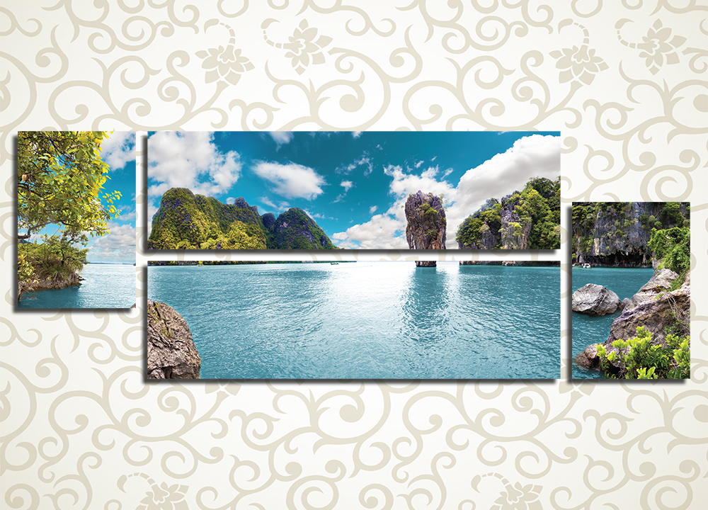 Модульная картина Каменные острова, Тайланд от Kartina-Pro