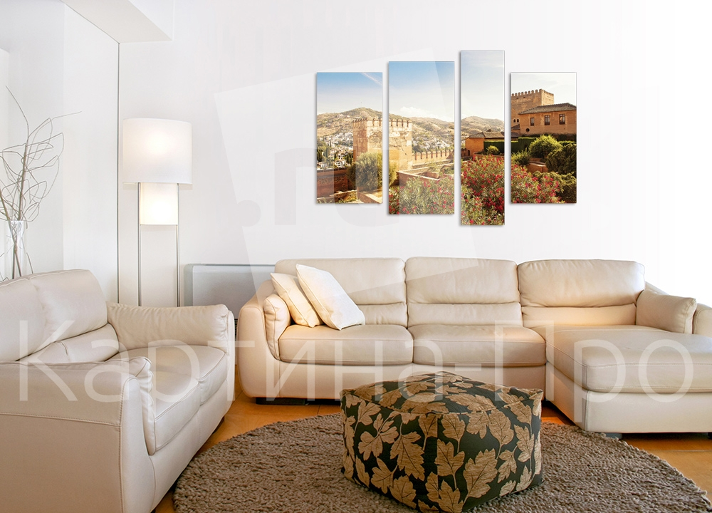 Модульная картина Солнечный замок от Kartina-Pro