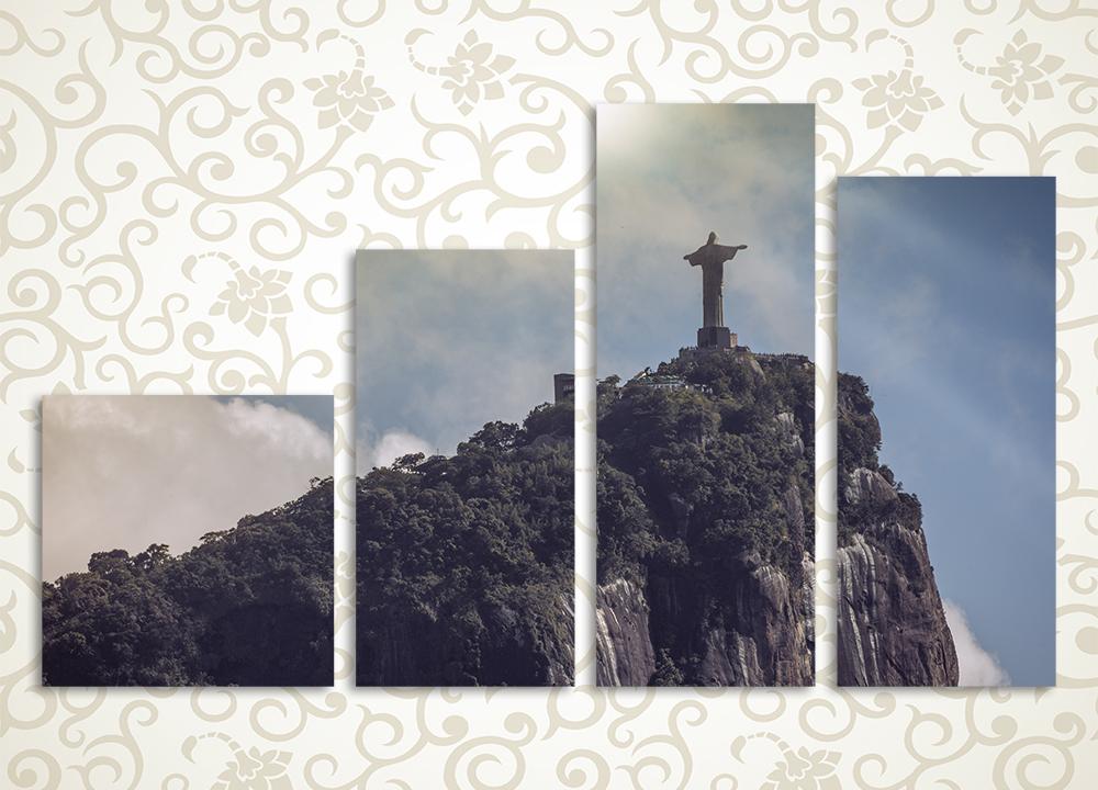 Модульная картина Статуя Христа на холме (Бразилия) от Kartina-Pro