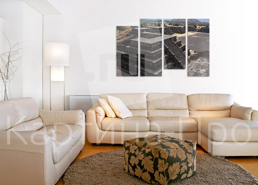 Модульная картина Пирамиды в Мексике от Kartina-Pro