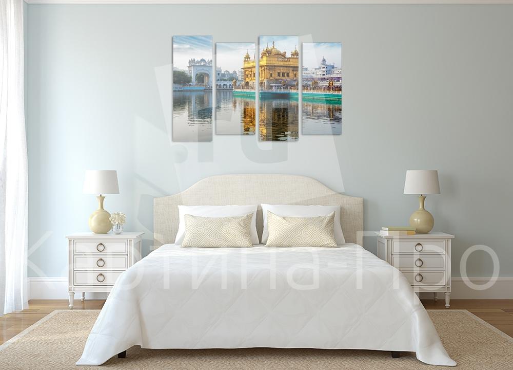 Модульная картина Золотой храм (Индия) от Kartina-Pro