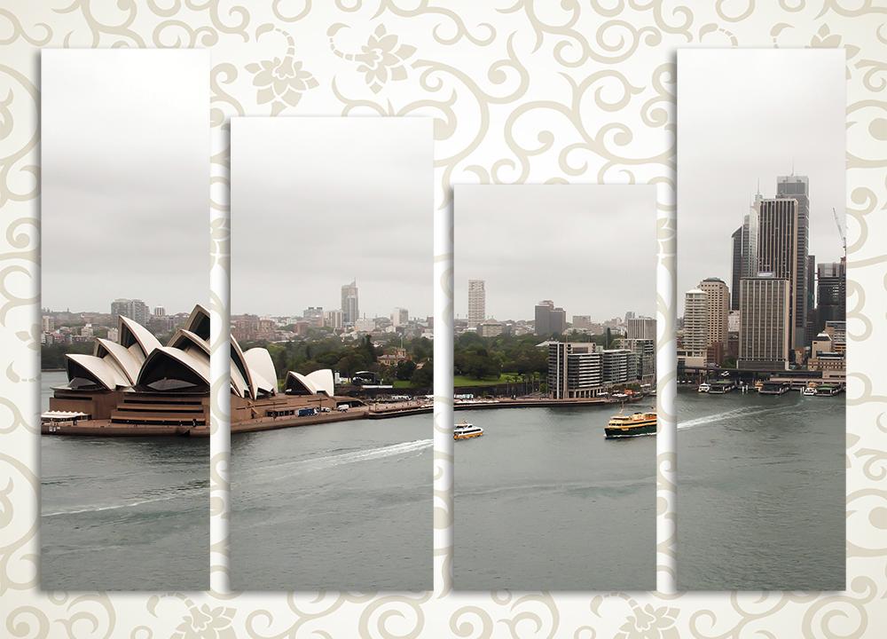 Модульная картина Пасмурный Сидней (Австралия)