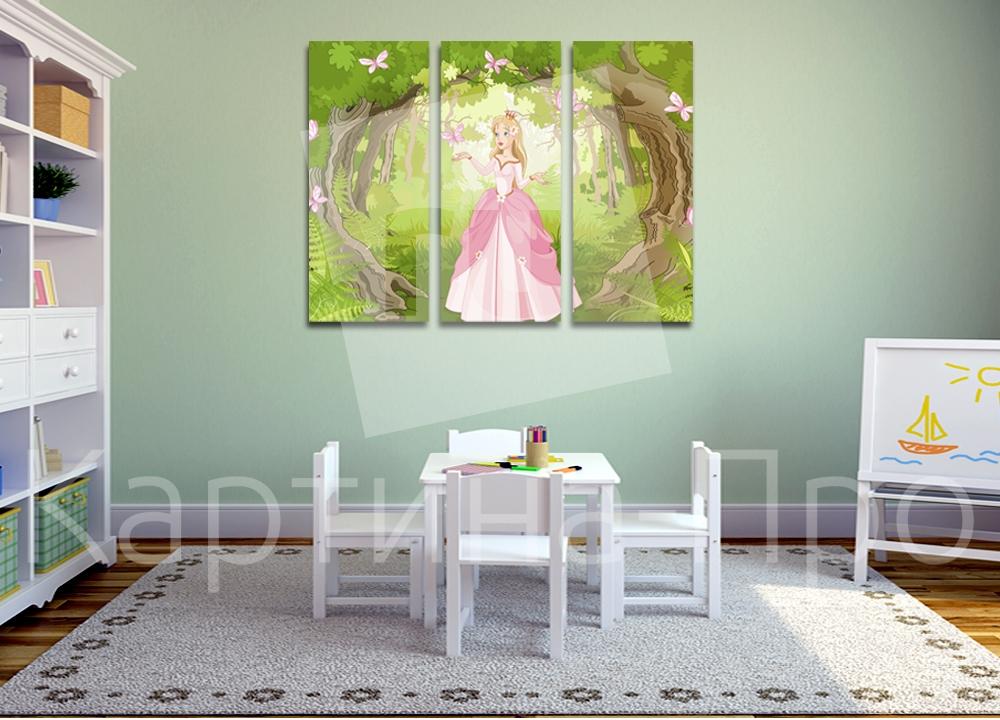 Модульная картина Принцесса в саду от Kartina-Pro