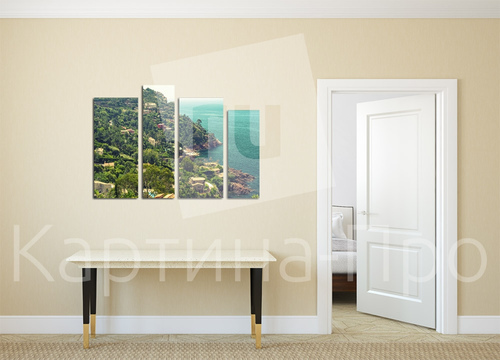 Модульная картина Виллы на берегу моря от Kartina-Pro