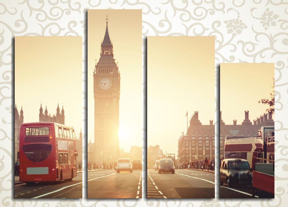 Модульная картина Рассвет над Лондоном (Англия)