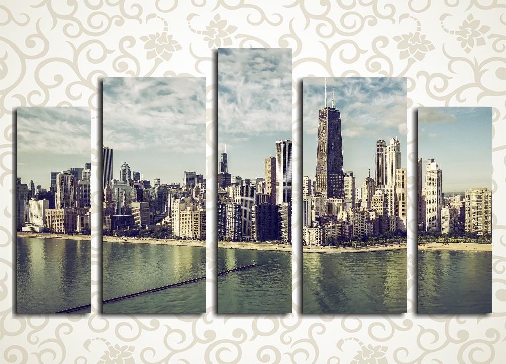 Модульная картина Городские небоскребы