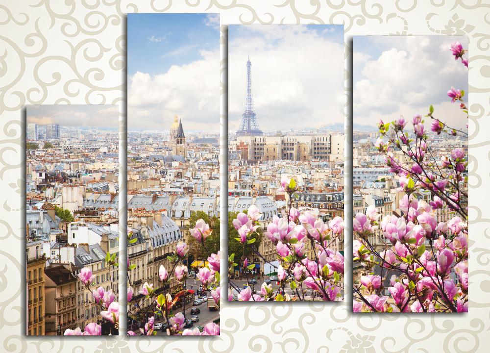 Модульная картина Весна в Париже (Франция)