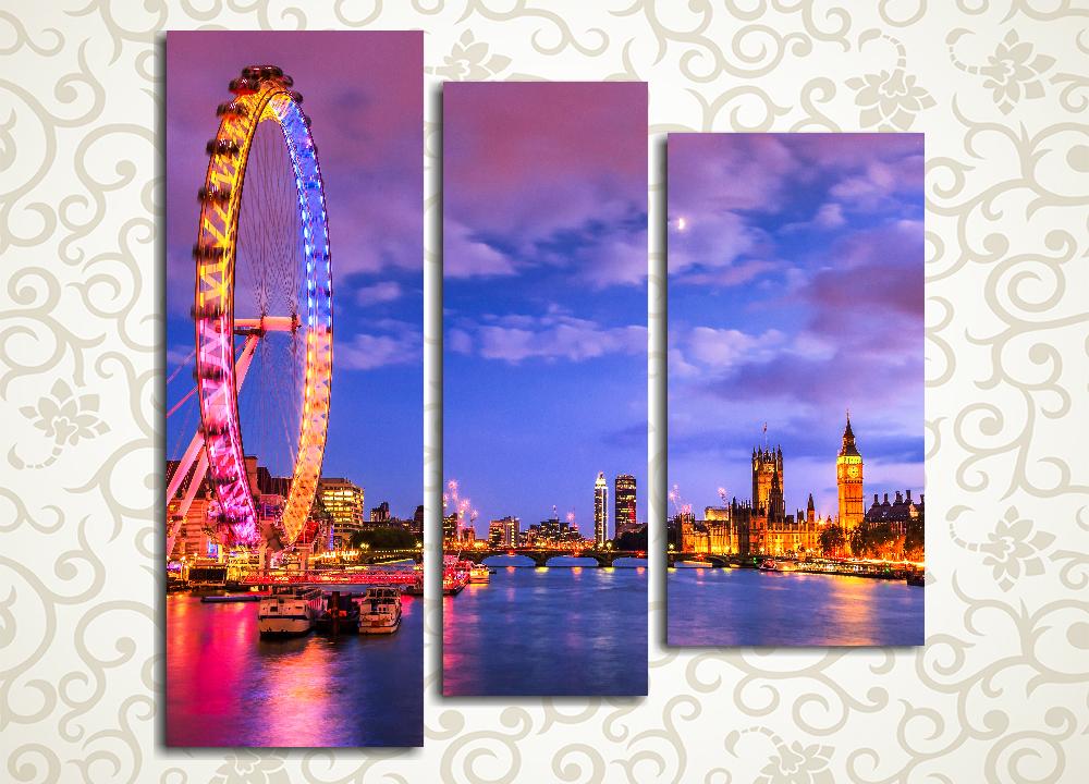 Модульная картина Ночной Лондон (Англия)