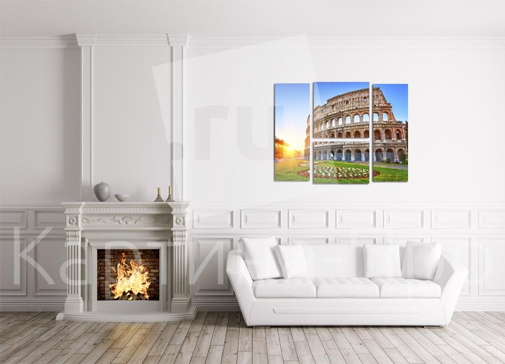 Модульная картина Рассвет над Колизеем. Рим (Италия) от Kartina-Pro