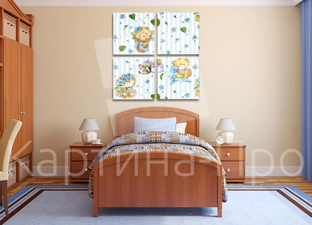 Модульная картина Медвежата с подарками от Kartina-Pro