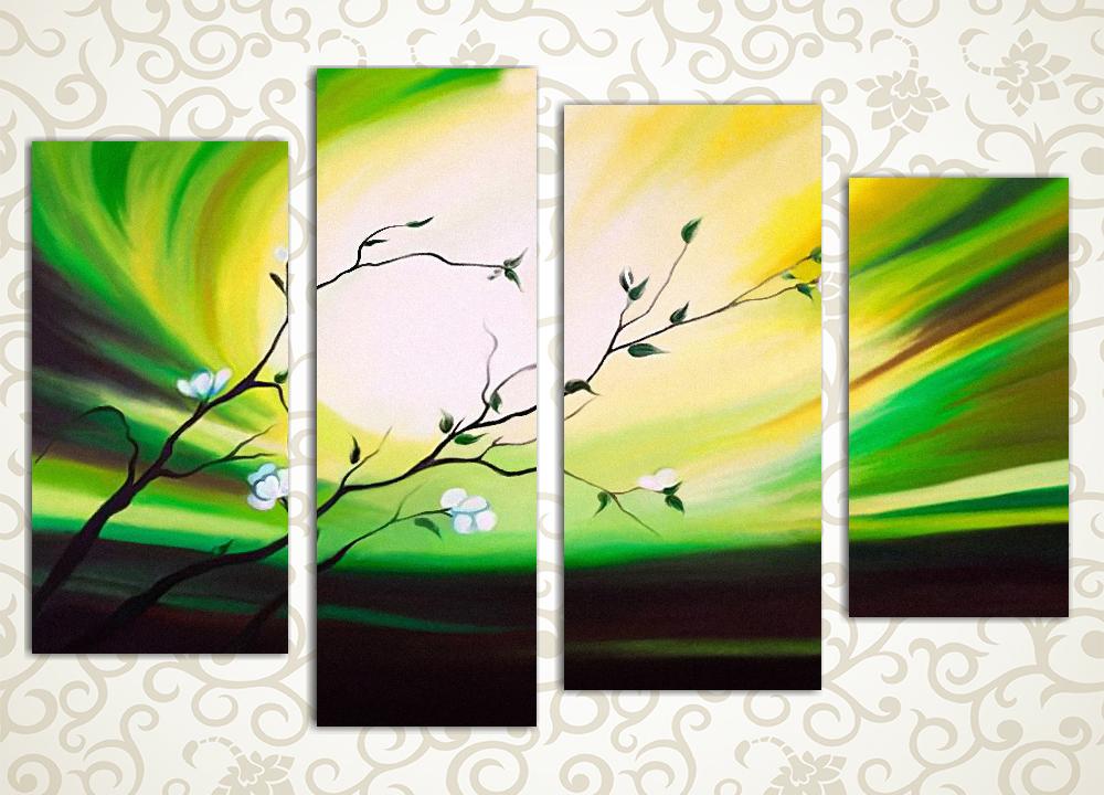 Модульная картина Яркая зелень от Kartina-Pro