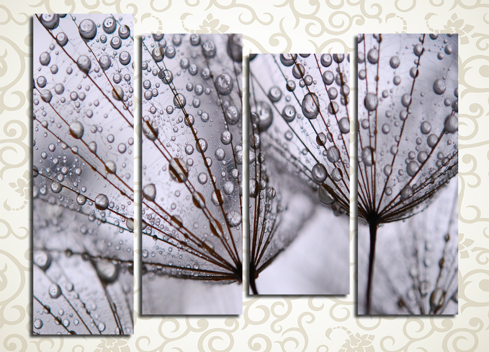 Модульная картина Капли дождя
