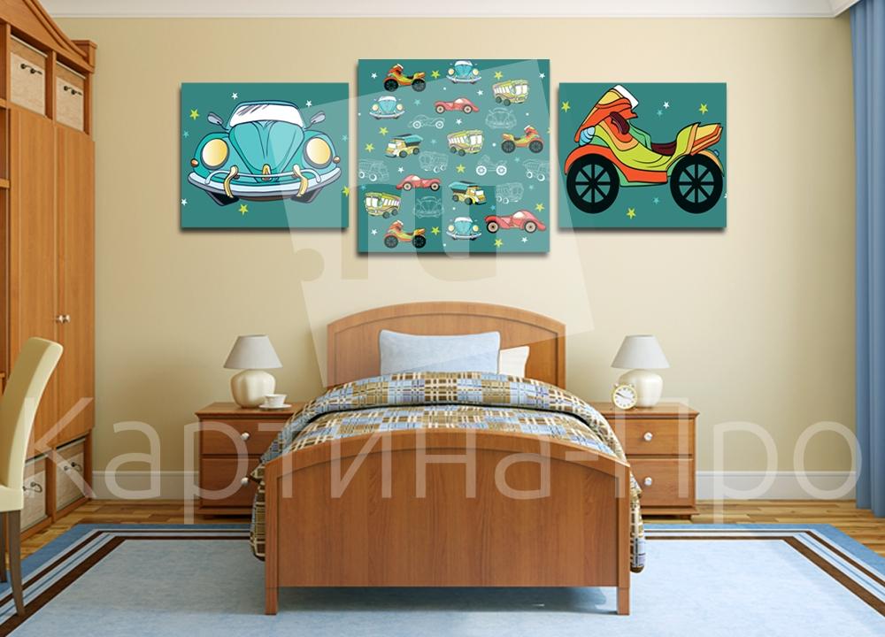 Модульная картина Машинки и мотоциклы от Kartina-Pro