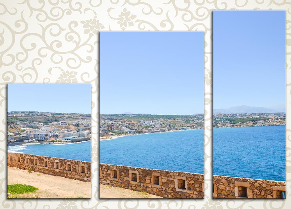 Модульная картина Крепость на берегу
