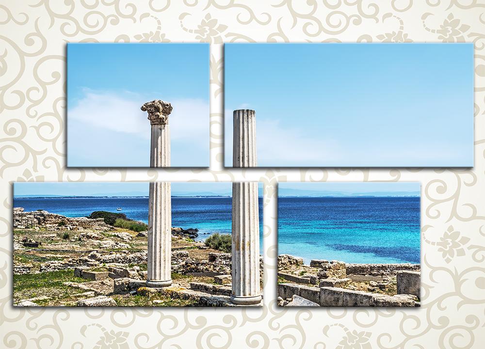 Модульная картина Руины города Фаррос. Сардиния (Италия)